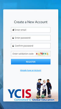 YCIS Application Procedure Create New Account